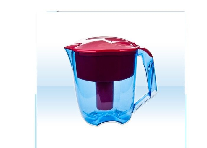 Red Color 3.5L Drinking Water Filter Jug AS Material With Filtration Function