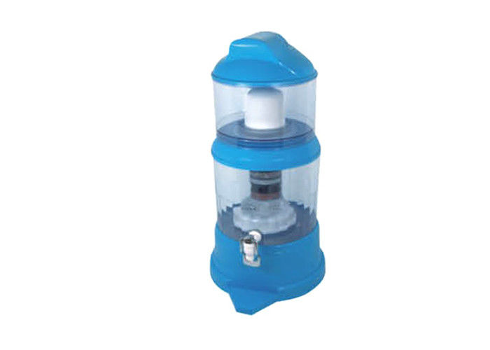 Blue Color Mineral Water Pot Direct Drinking Water With Multi Layers Filter Material
